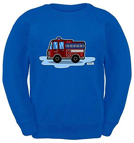 HARIZ Kinder Sweater Feuerwehraut Auto Polizei Plus Geschenkkarte Royal Blau 104/3-4 Jahre -