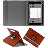 """Hello Zone Exclusive 360° Rotating 10"""" Inch Flip Case Cover Book Cover For Asus Transformer Pad TF201 WiFi (64GB) -Brown"""