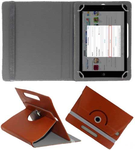 """Hello Zone Exclusive 360° Rotating 7"""" Inch Flip Case Cover Book Cover for Amazon Kindle Fire -Brown  available at amazon for Rs.185"""
