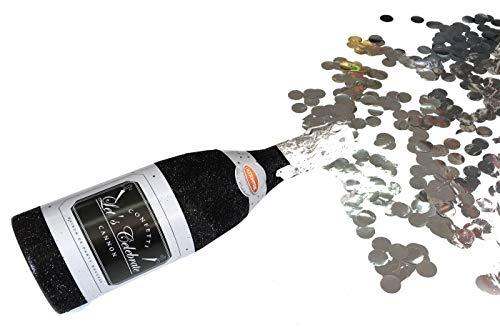 Goodmark 9540008 Konfetti Flasche Schwarz, Silber