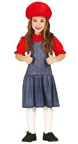 Mädchen-Rot Super Mario Halloween Weihnachten Kostüm Kleid Outfit 3-12 Jahre - Rot, 3-4 (Für Mädchen Mario Super Kostüme)