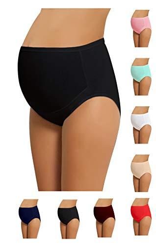 NBB Lingerie, verstellbare Damen-Schwangerschaftsunterwäsche, Rio-Slip, 100 % Baumwolle, 4er-Pack -  blau -  XXX-Large - 4