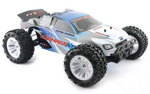 RC FTX CARNAGE NT 4WD RTR 1/10TH NITRO Glo TRUCK
