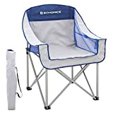 SONGMICS Outdoor Camping Chair, Wide, Portable, 250 kg Load