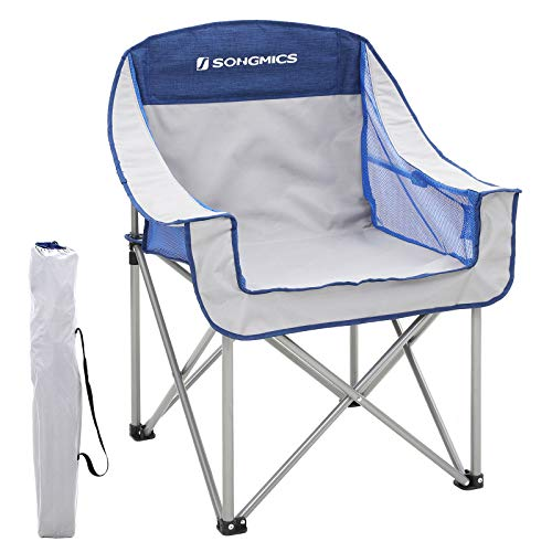SONGMICS Campingstuhl, klappbar, Klappstuhl, bis 250 kg belastbar, Outdoor Stuhl -