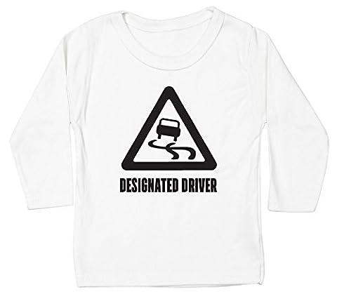 Hippowarehouse Designated Driver baby unisex t-shirt long sleeve