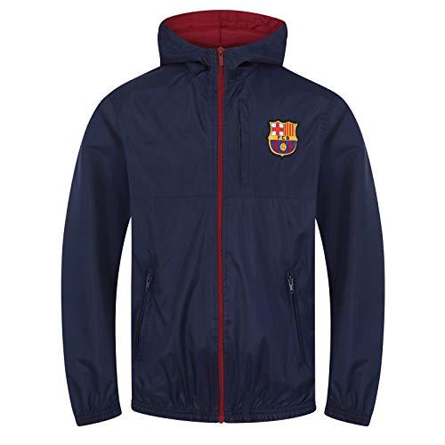 FC Barcelona Official Football Gift Boys Shower Jacket Windbreaker Navy Blue