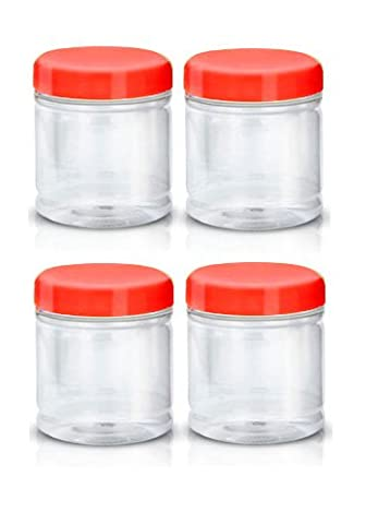 Sunpet Food Storage Canisters, Plastic, Red, 250 ml, Small, Pack