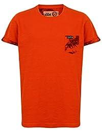Tokyo Laundry - T-shirt - Chemise - Uni - Col Rond - Garçon rouge Red 6 ans
