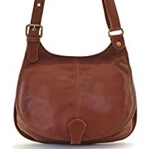 b99ccab564ff OH MY BAG Sac à main besace cuir lisse style cartouchière SOLDES