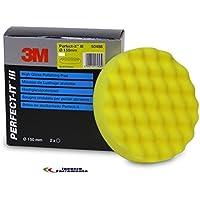 3M Perfect-it III Polierschwamm Polierschaum gelb genoppt 50488 150mm 1 Stück