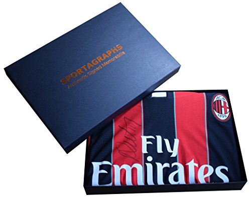Sportagraphs-Rui-Costa-SIGNED-AC-Milan-New-BNWT-Shirt-Autograph-Gift-Box-Football-AFTAL-COA-PERFECT-GIFT