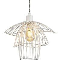 HAPPYLIGHT Hängelampe Metall Grün Deckenlampe Hängeleuchte Loft Art Deco-Stil