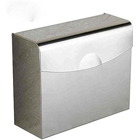 XIAOMINZI Carta Igienica Titolare Moderna In Acciaio Inox A Parete 200Mm*245Mm*90Mm(8*10*4Inch) Bagno Accessori 304 In Acciaio Inox Contemporanea Carta Velina Titolare Roll Titolare Scatole Per Toilette