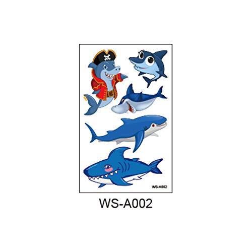 adgkitb Kinder Ocean Funny Shark Tattoo Aufkleber WS-A002 12x7.5cm