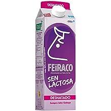 Feiraco Leche UHT Desnatada sin Lactosa - Paquete de 6 x 1000 ml - Total: