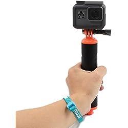 TELESIN POV Bouée de Plongée Monopode Imperméable à l'eau Flottant Poignée de Main Trépied de Montage Compatible avec GoPro Hero 4 Session, Hero 2/3/3 +/4 Sport Action Camera (Jaune)