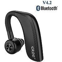 Auricular Bluetooth 4.2, Auricular Manos Libres con Duración 22 Horas Para IPhone Android Auriculares Bluetooth Inalámbrico con Cancelación de Ruido & Sweatproof IPX4 para Oficina, Negocios,Conducción