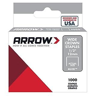 Arrow Fastener Available 608 Wide Crown Swingline Style Heavy Duty 1/2-Inch Staples, 1000-Pack, 1/2 Inch