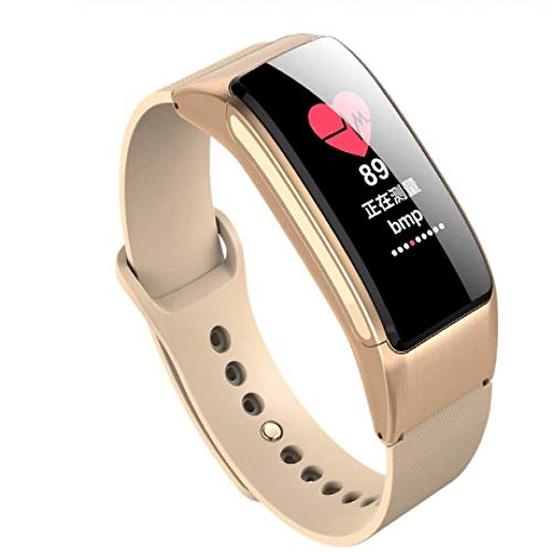 WANGLEISCC Smart Band Bluetooth Uhrenarmband Portable Talk Schrittzähler Active Fitness Tracker Support Smart Talk Bluetooth