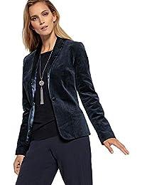 6faf2a8262 Amazon.it: Giacca Velluto Donna - Blu / Giacche / Giacche e cappotti ...