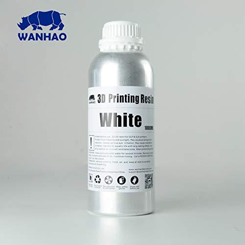 Wanhao 22342 3D-Drucker UV-Resin, 1000 ml, Weiß - 8.43 Licht