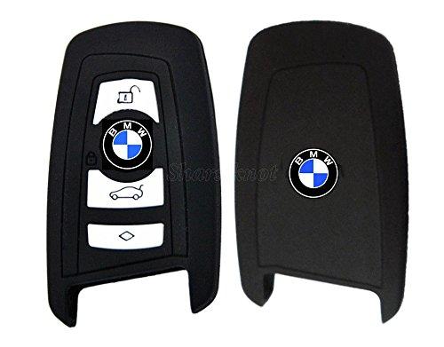 Custodia per chiavi in silicone di alta qualità Smart 2/3/4per BMW (di colore nero)
