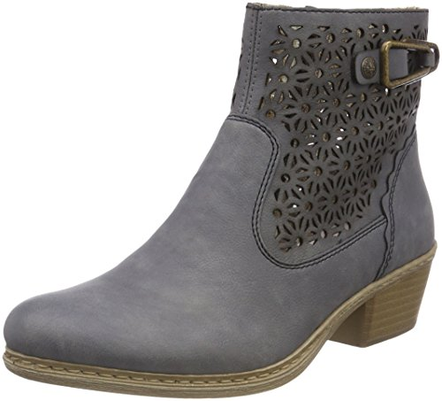Rieker Damen 75586 Desert Boots, Blau (Jeans), 37 EU