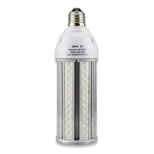Tongsung LED-Lampen, 24W Warme Weiße(3000K) mit breitem Eingangsspannung AC85V-265V, Super Bright Light Output(2420 LM), mit Aluminiumlegierung Bau und Staubschutz (Schutzstufe : IP64). E27 Cap