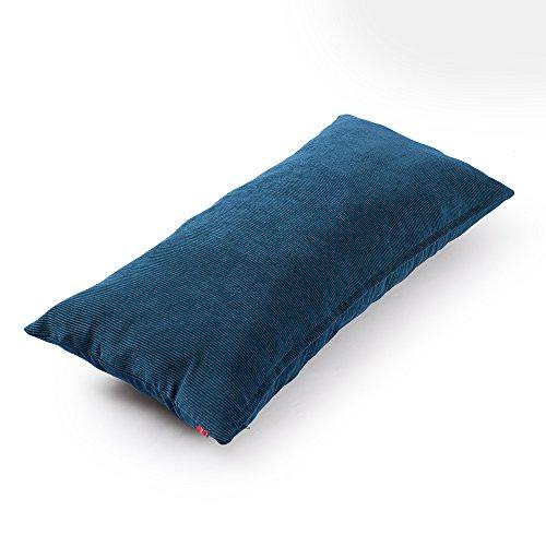 baibu Purer Weicher Dekorativ Sofa Kissenbezug Kissenhülle mit verdecktem Reißverschluss aus Kord in 8 modernen Farben und 11 Größen,Pfauenfeder 40x80cm