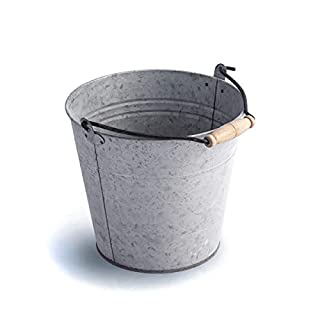 Antikas – Decorative Metal Bucket Galvanised Garden Bucket Ash Bucket Water Bucket