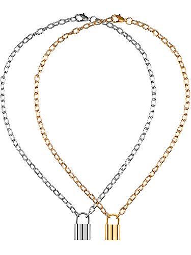 loss Form Anhänger Halskette Punk Kette Halskette für Damen Männer Kostüm Zubehör ()