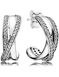 93f411244 Pandora Women Silver Hoop Earrings - 290730CZ
