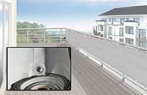 Cilios Care - Frangivento/frangivista per balcone, colore: argento chiaro, dimensioni: 500 x 90 cm