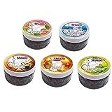 DXP Shiazo Dampfsteine Shisha Mixed Pack, 5 Sorten Wasserpfeife Stein Granulat Nikotinfreier Tabakersatz