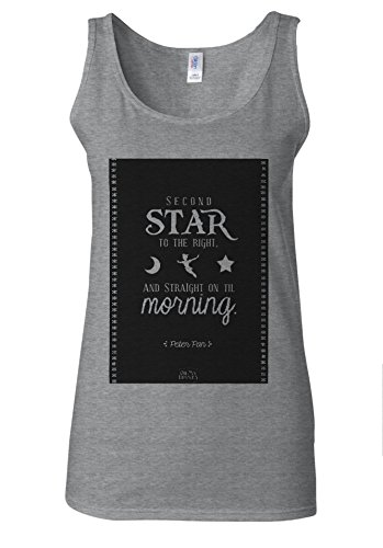 Peter Pan Star Tinker Bell Quotes White Women Vest Tank Top Spotif Gris