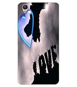ColourCraft Love Heart Design Back Case Cover for OPPO F1 PLUS