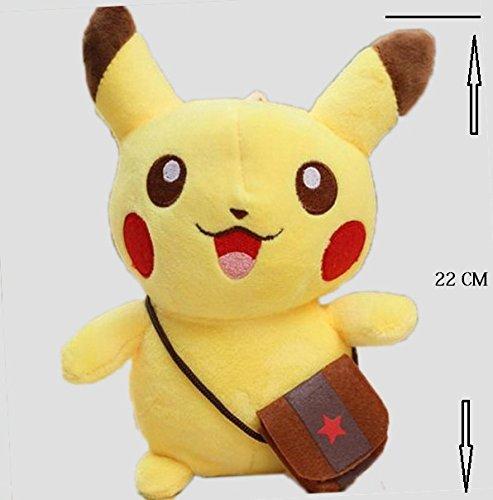 Richy Toys Pikachu Pokemon Soft Toy kids birthday Gift Stuffed Soft Plush Toy Love 22 cm