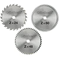 Einhell - Juego de hojas de sierra circular (250 x 30 x 3 mm, 24, 48 y 60 dientes)