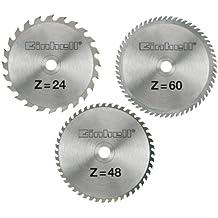 Einhell - Juego de hojas de sierra circular (210 x 30 x 2,5 mm, 24, 48 y 60 dientes)
