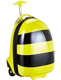 HAUPTSTADTKOFFER - For Kids - Kindergepäck, Kinderkoffer, Tierkoffer (Biene, Zebra, Marienkäfer) 24 Liter, Weiß