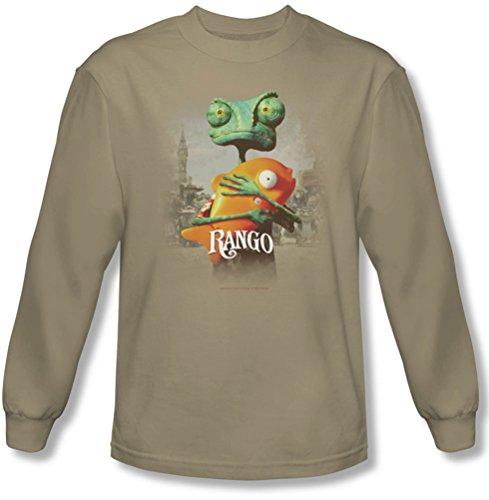 Rango - Herren-Plakat-Kunst Langarm-Shirt im Sand Sand