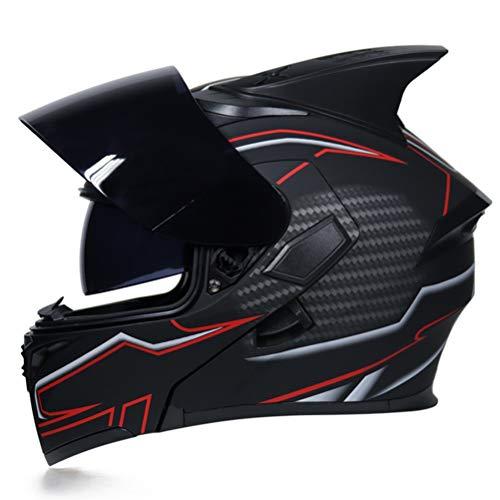 Uomini flip up doppia lente del motociclo del casco rimovibile e lavabile donne Liner Design aerodinamico casco modulare anti crash downhill caschi motocross