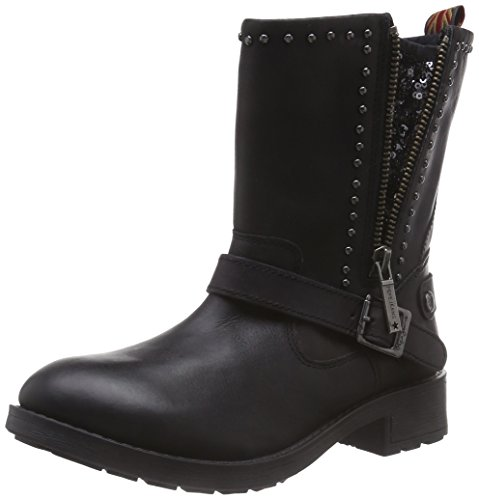 Pepe Jeans London Pimlico Sequins, Boots femme Noir (999Black)