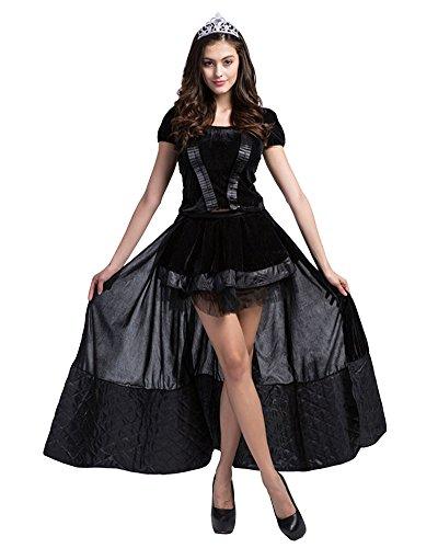 LaoZan Damen Verrücktes Kleid Cosplay Karneval Fasching Adult Halloween Kostüm gotische Lolita...