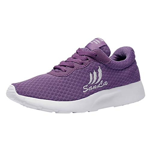 s Running Air Bubble Sports Shock Absorbing Lightweight Gym Walking Trainers Casual Mesh Breathable Shoes Student Sneakers ()