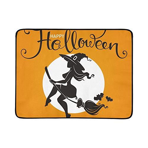 KAOROU Halloween-Party-Einladungs-Gruß-Karte attraktive tragbare und Faltbare Deckenmatte 60x78 Zoll handliche Matte für Camping Picknick Strand Indoor Outdoor-Reise (Für Halloween Party-einladungen)