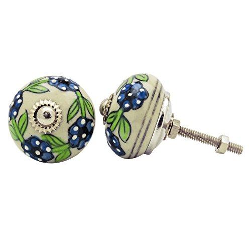 Round Ceramic Drawer Knob Schrank Cabinet Pulls Hardware Indian Knöpfe 1 Paar