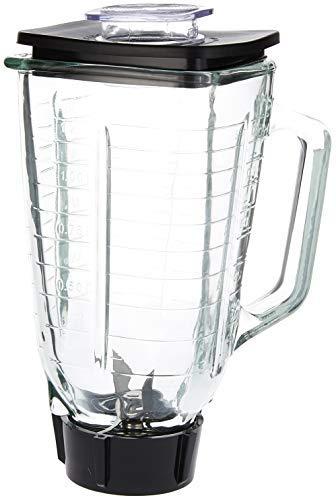 Blendin Glasbehälter, quadratisch, 5 Tassen, mit Klinge und Dichtung, Boden und Deckel. Passend für Oster Mixer - Oster-glas-mixer-glas