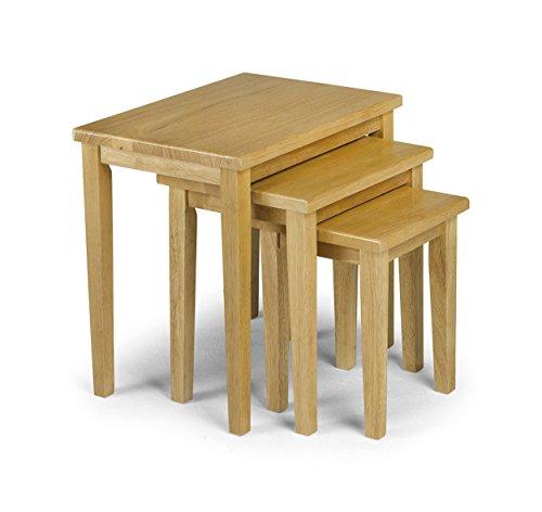 Julian bowen tavolini modulari cleo, in legno di rovere chiaro